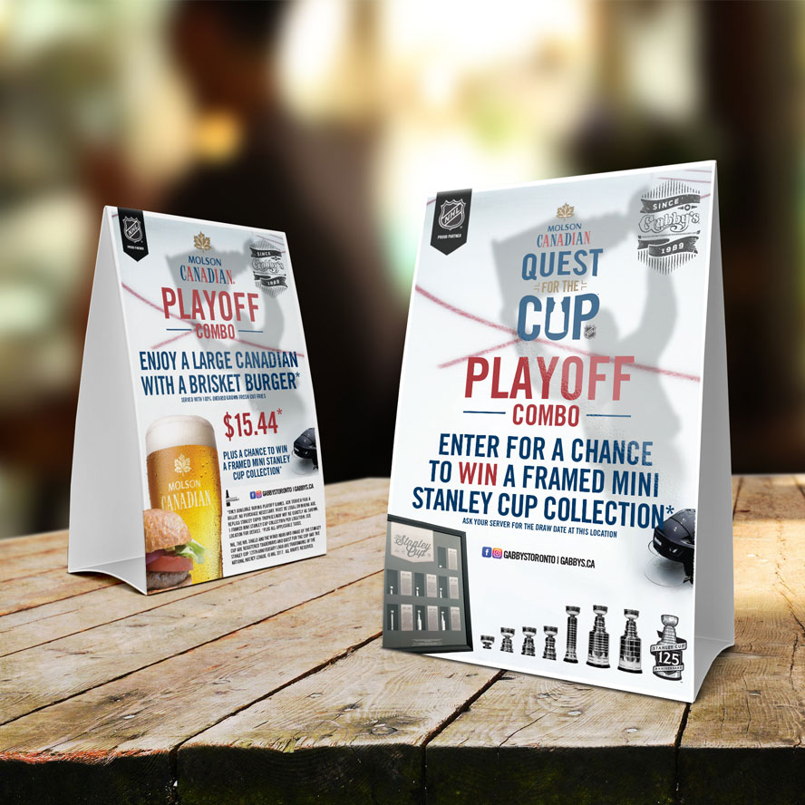 Gabby's NHL Playoff Tent Cards