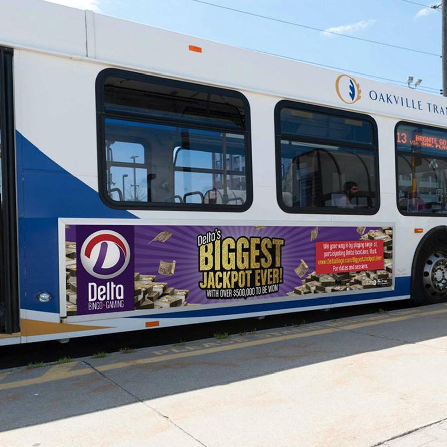 Delta Bingo - Transit Advertising