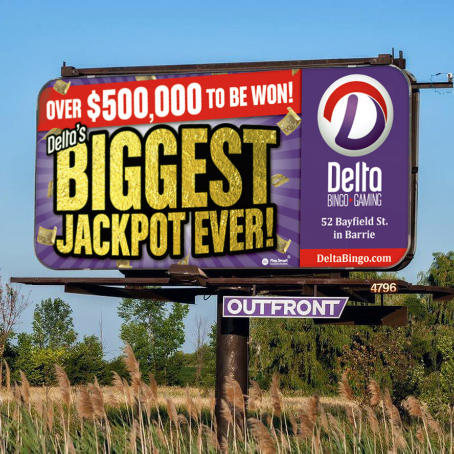 Delta Bingo - Billboard Advertising