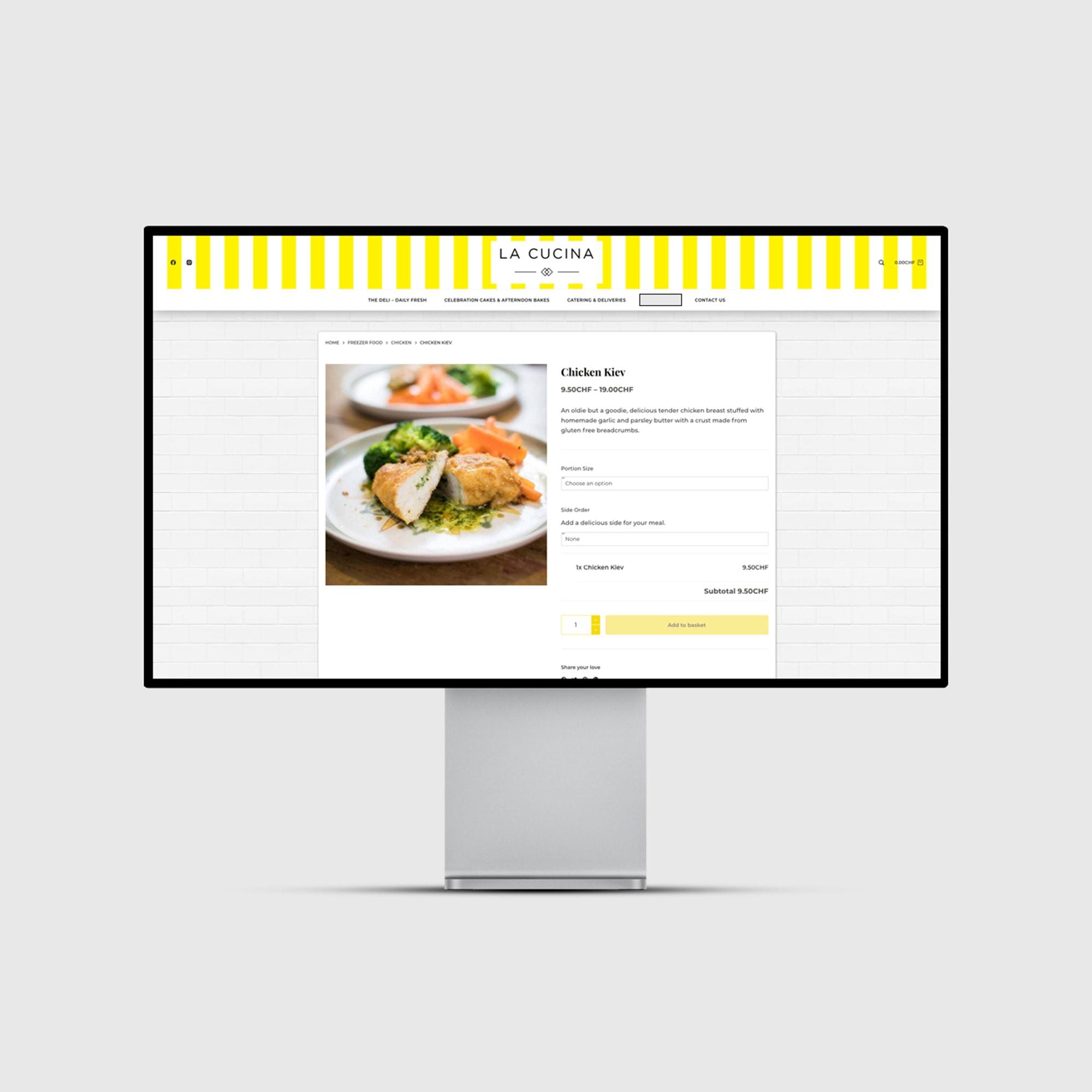 La Cucina - Desktop View