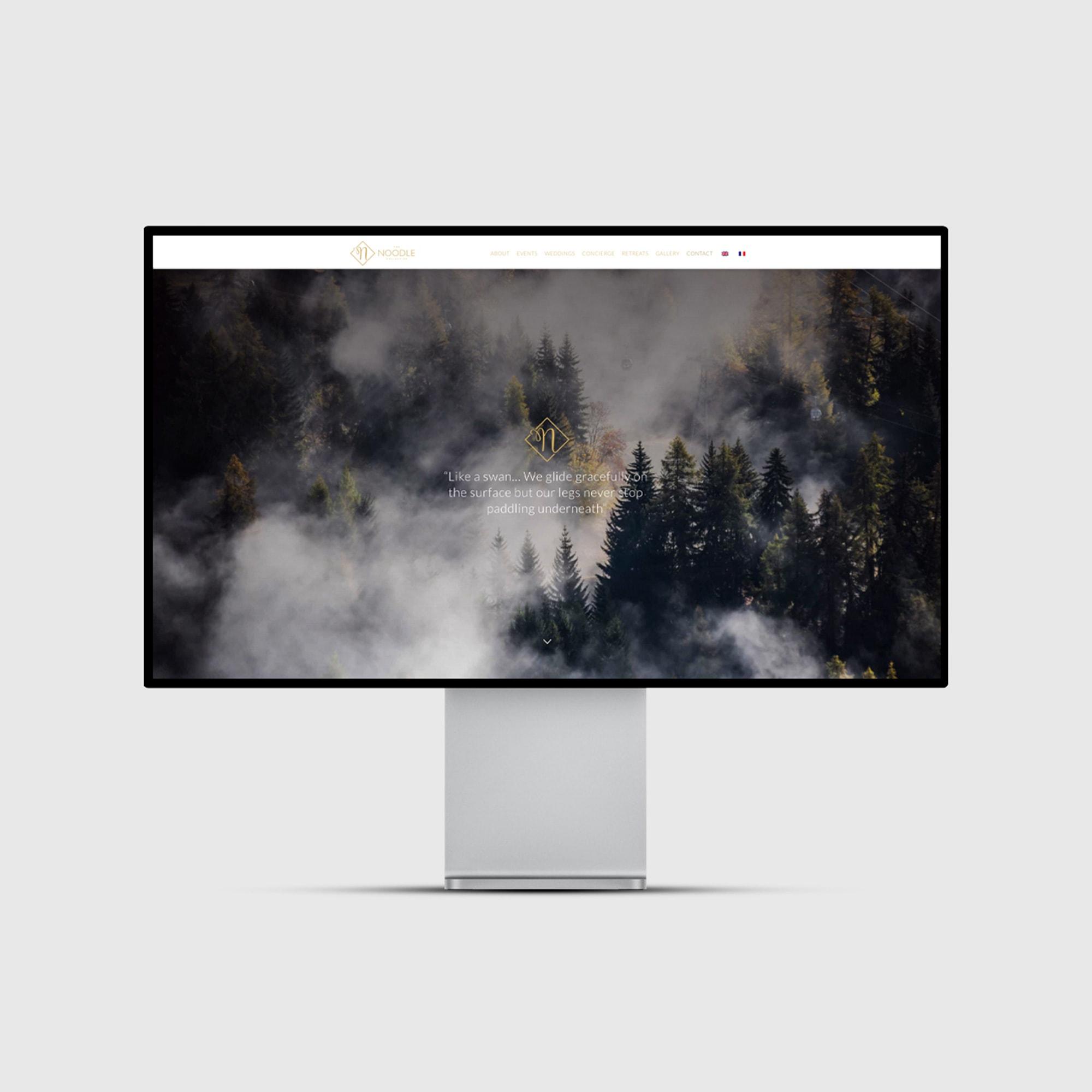 The Noodle Collective - Desktop View